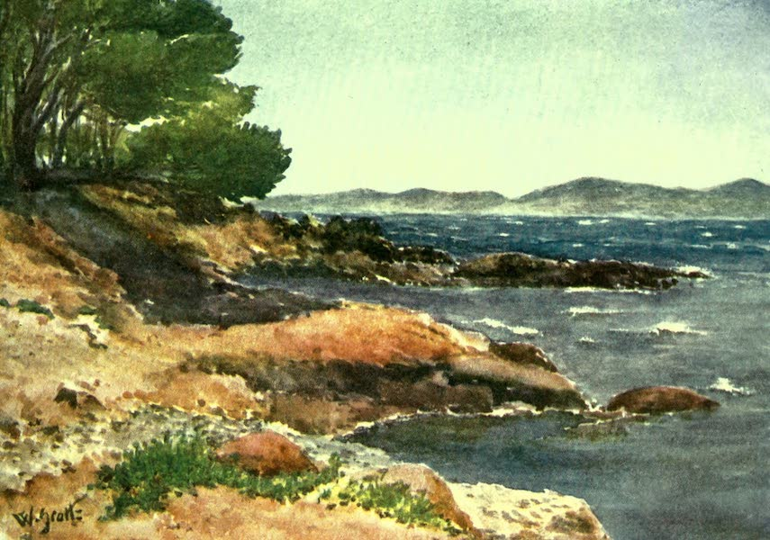 The Riviera Painted & Described - On the Shores near Carqueiranne (1907)