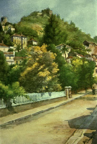 The Riviera Painted & Described - Street in Hyeres (1907)