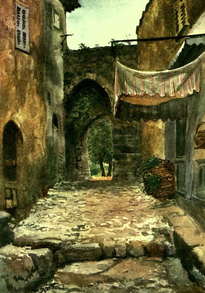 The Riviera Painted & Described - Entrance Gate, Auribeau (1907)