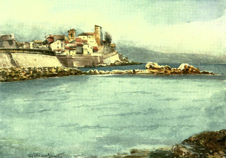 The Riviera Painted & Described - Antibes from the West (1907)