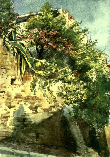 The Riviera Painted & Described - A Street Corner, Cagnes (1907)