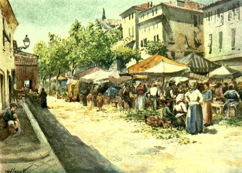 The Riviera Painted & Described - The Vegetable Market, Nice, looking West (1907)