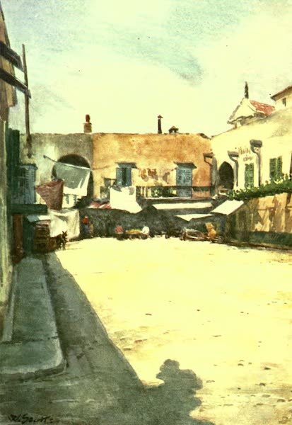 The Riviera Painted & Described - A Corner near the Market, Nice (1907)