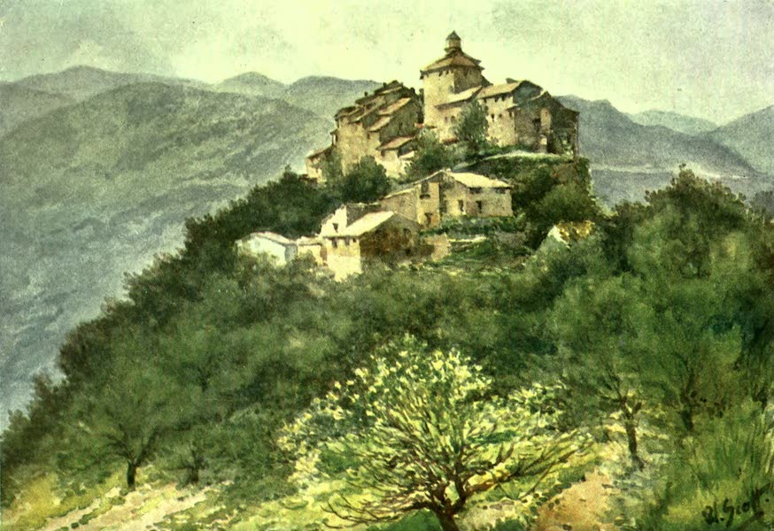 The Riviera Painted & Described - La Roquette, in the Var Valley (1907)