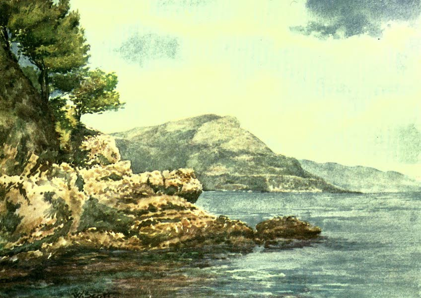 """The Riviera Painted & Described - The """"Tete de Chien,"""" from S. Jean (1907)"""