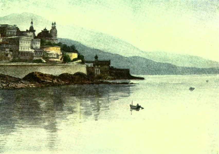 The Riviera Painted & Described - Monte Carlo, from Monaco - Early Morning (1907)
