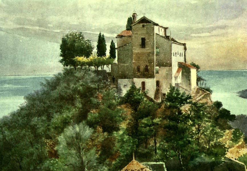 The Riviera Painted & Described - Monastery of the Annonciade, Mentone, from the North (1907)