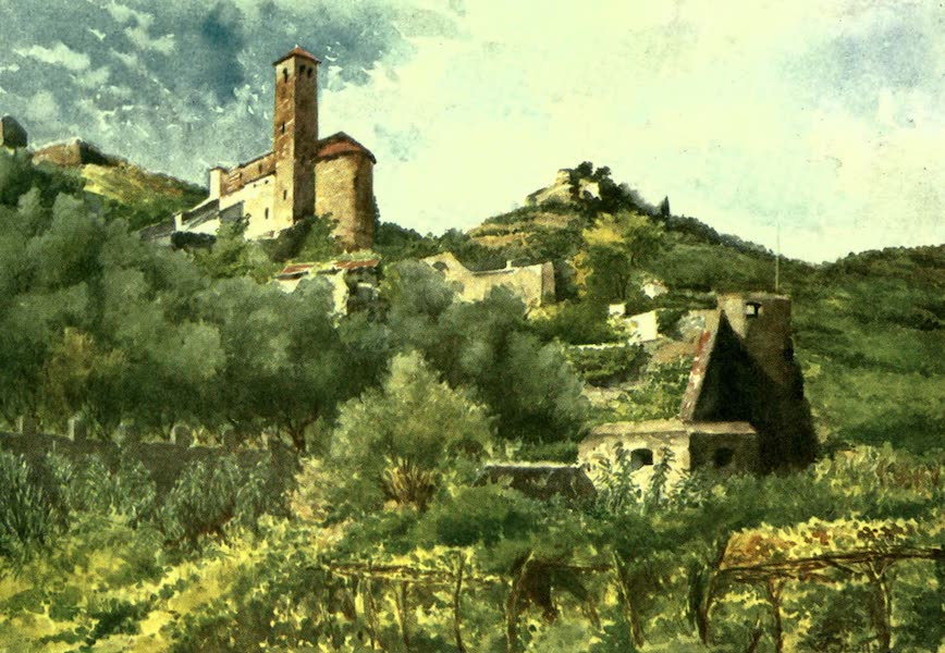 The Riviera Painted & Described - Old Walls, Ventimiglia, and Church of S. Michele (1907)