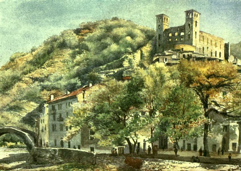 The Riviera Painted & Described - Dolceacqua, with the Castle of the Doria (1907)