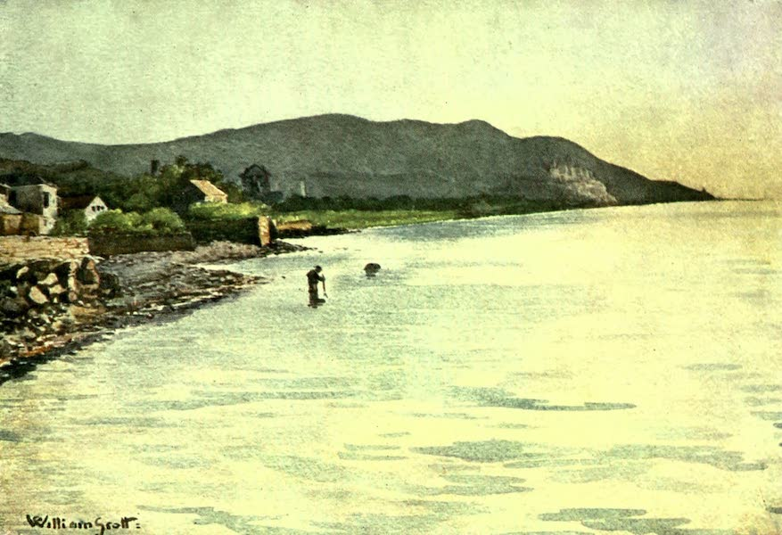 The Riviera Painted & Described - On the Shore, Diano Marina - Cervo in the Distance (1907)