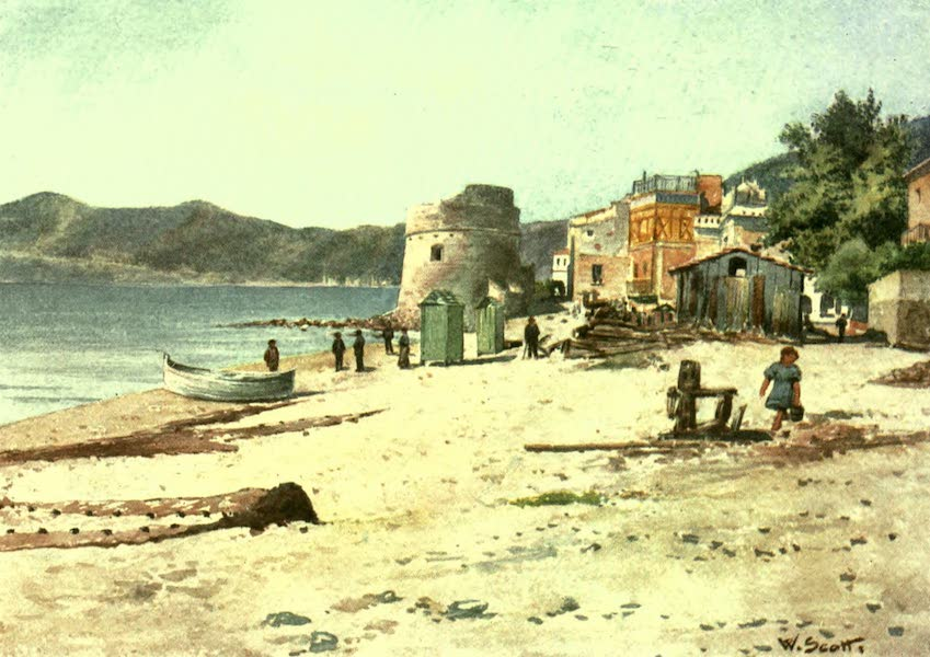 The Riviera Painted & Described - On the Shore, Alassio (1907)