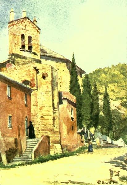 The Riviera Painted & Described - Church of Perti, near Castello Gavone (1907)