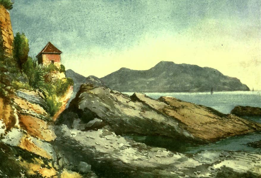 The Riviera Painted & Described - Rocks on the Shore, Nervi (1907)