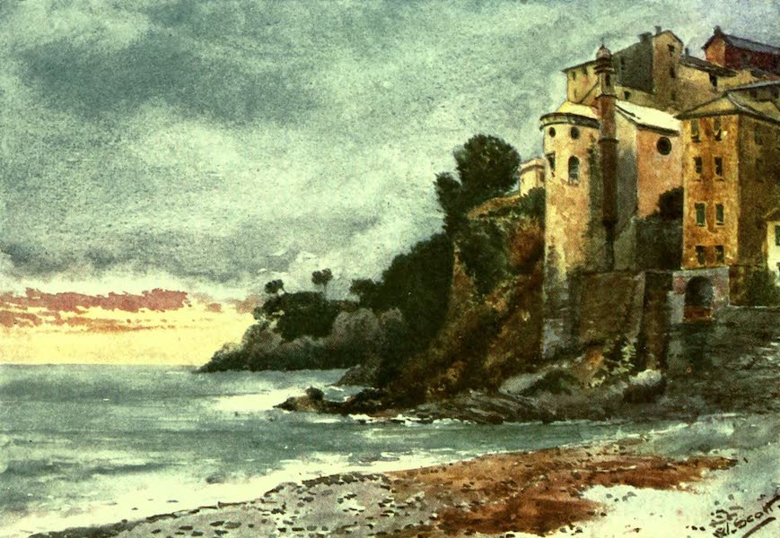 The Riviera Painted & Described - On the Shore, Sori (1907)