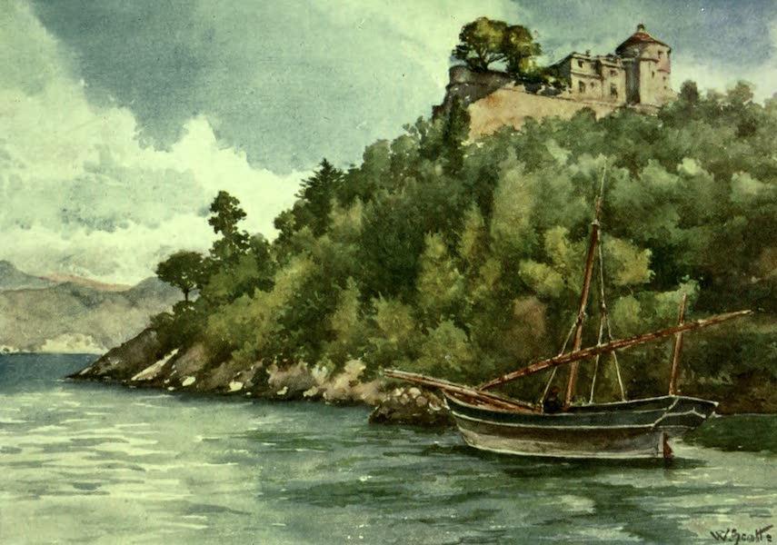 """The Riviera Painted & Described - The """"Castello Brown,"""" Portofino (1907)"""