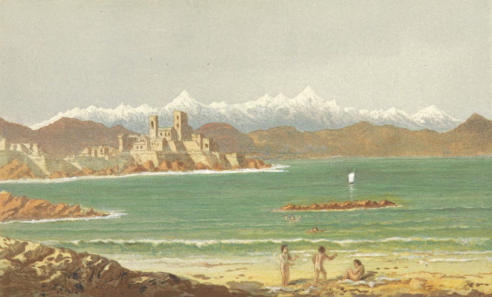 The Riviera: Pen and Pencil Sketches from Cannes to Genoa - Antibes (1870)