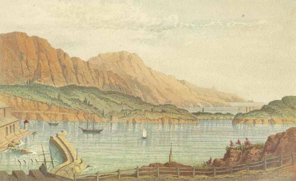 The Riviera: Pen and Pencil Sketches from Cannes to Genoa - Villa Franca Harbour (1870)