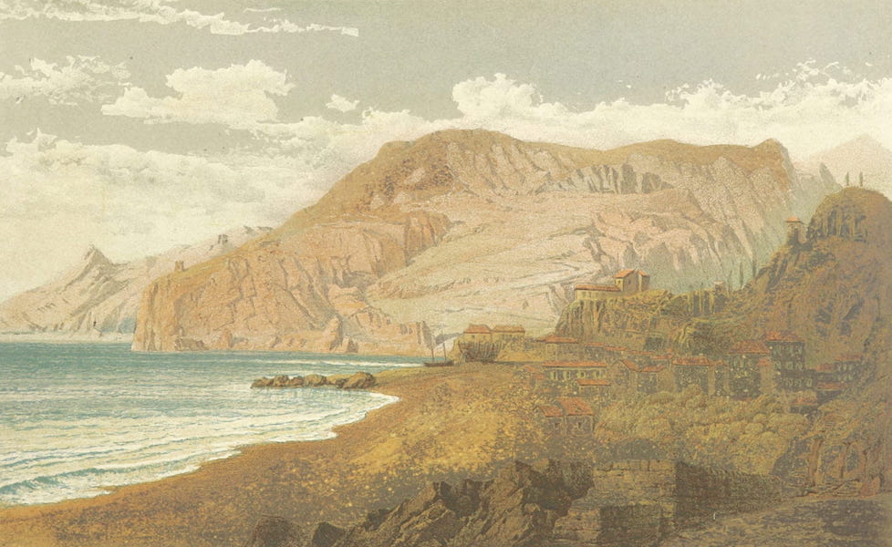 The Riviera: Pen and Pencil Sketches from Cannes to Genoa - Finale, from the East (1870)