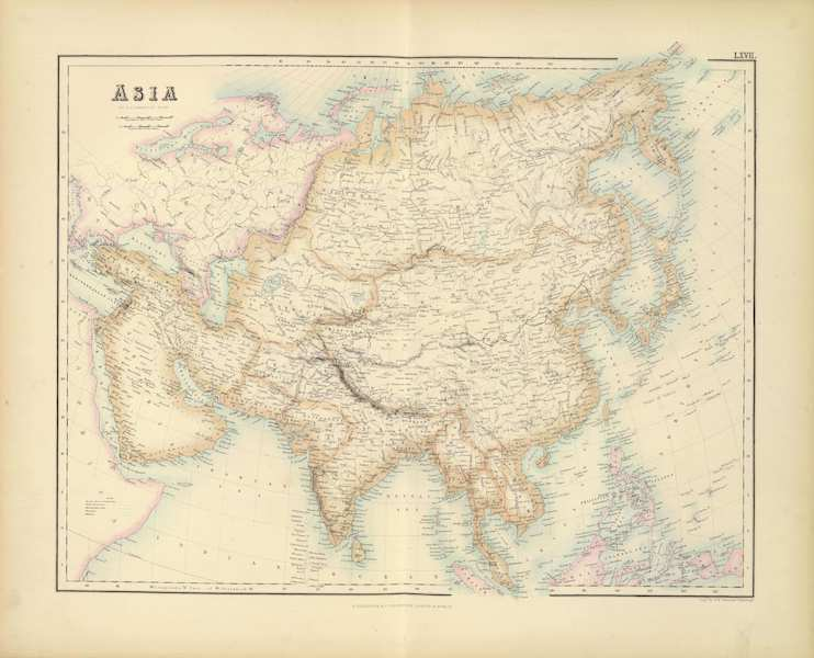 The Royal Illustrated Atlas - Asia (1872)