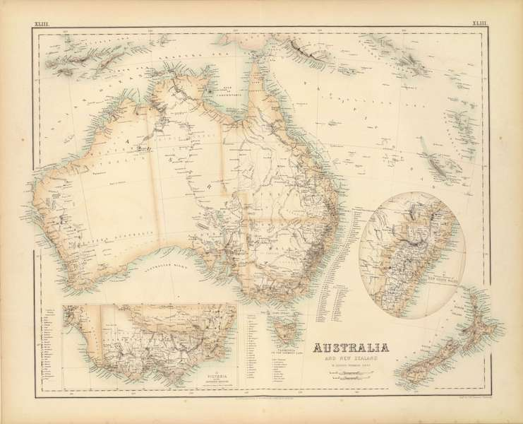 The Royal Illustrated Atlas - Australia and New Zealand (1872)