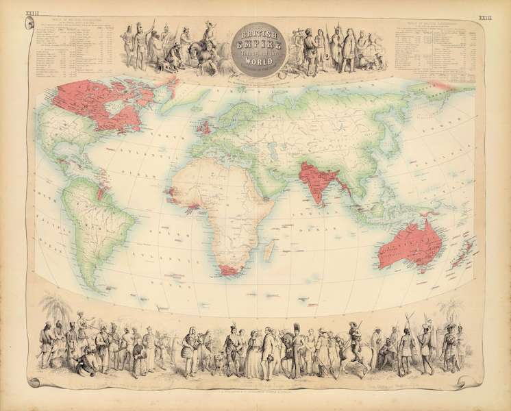The Royal Illustrated Atlas - British Empire Throughout the World Exhibited in One View (1872)