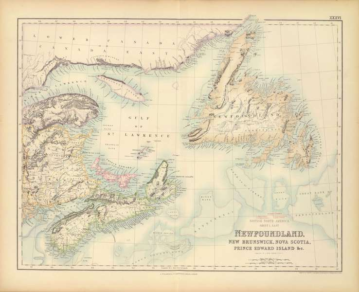 The Royal Illustrated Atlas - British North America Sheet I - East (1872)