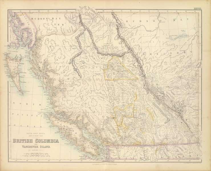 The Royal Illustrated Atlas - British North America Sheet III - Pacific Coast (1872)