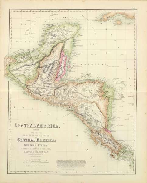 The Royal Illustrated Atlas - Central America (1872)