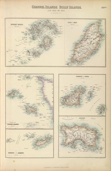 The Royal Illustrated Atlas - Channel Islands Scilly Islands and Isle of Man (1872)