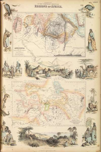 The Royal Illustrated Atlas - Countries in the Northern Tropical Regions of Africa (1872)