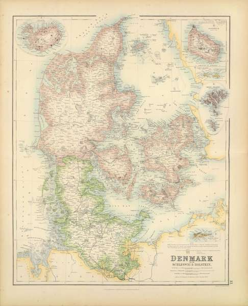 The Royal Illustrated Atlas - Denmark with Schleswig and Holstein (1872)