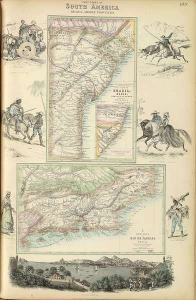 The Royal Illustrated Atlas - East Coast of South America (1872)