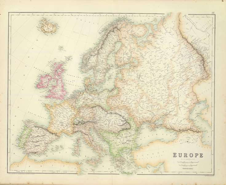 The Royal Illustrated Atlas - Europe (1872)