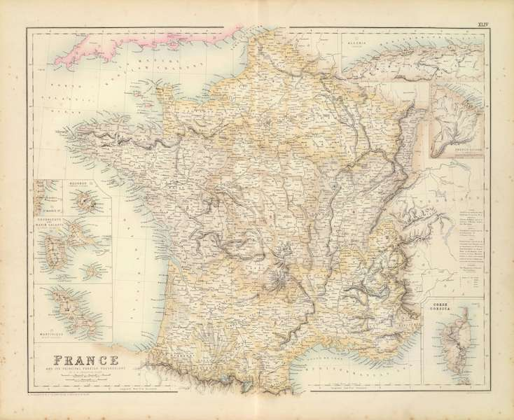 The Royal Illustrated Atlas - France and It's Principal Foreign Possessions (1872)
