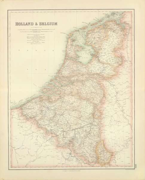 The Royal Illustrated Atlas - Holland and Belgium (1872)