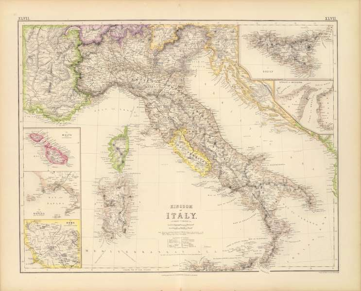 The Royal Illustrated Atlas - Kingdom of Italy (1872)