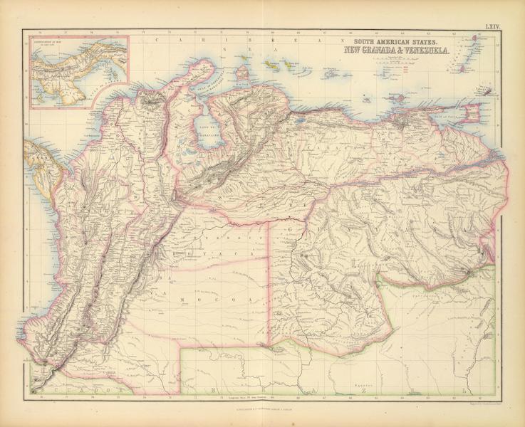 The Royal Illustrated Atlas - New Granada and Venezuela (1872)
