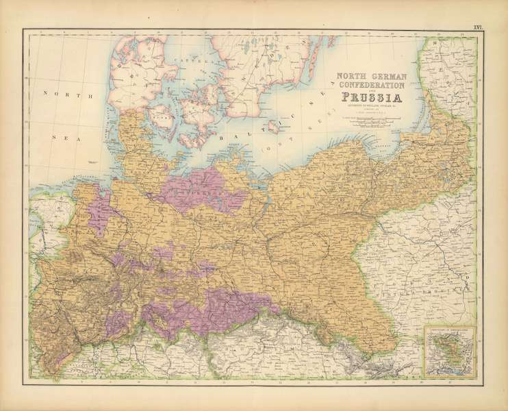 The Royal Illustrated Atlas - North German Confederation and Prussia (1872)