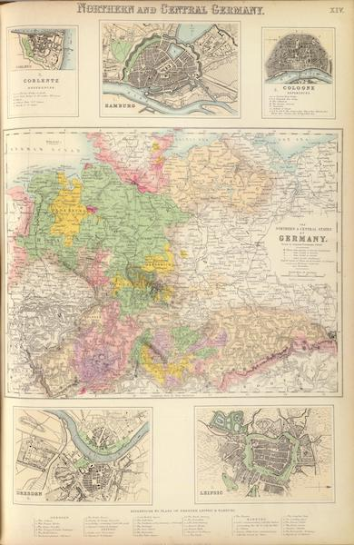 The Royal Illustrated Atlas - Northern and Central Germany (1872)