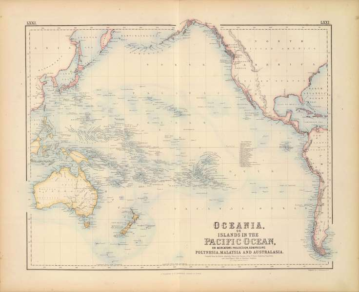 The Royal Illustrated Atlas - Oceania or Islands in the Pacific Ocean (1872)