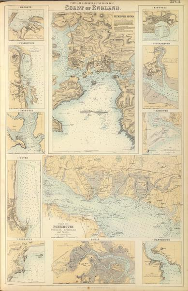 The Royal Illustrated Atlas - Ports and Harbours on the South East Coast of England (1872)