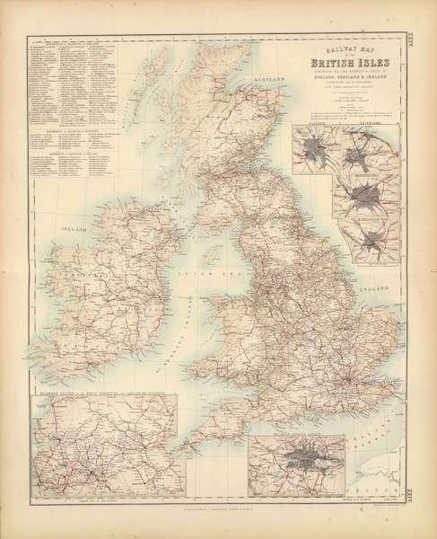 Railway Map of the British Isles