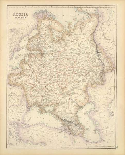 The Royal Illustrated Atlas - Russia in Europe (1872)