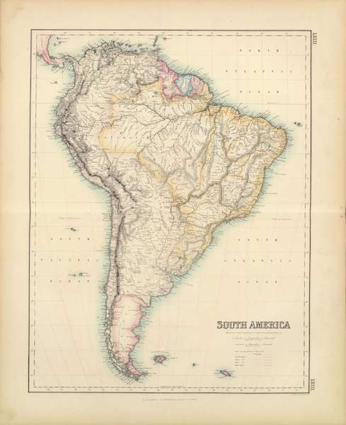 The Royal Illustrated Atlas - South America (1872)