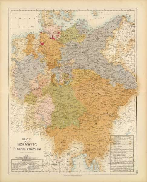 The Royal Illustrated Atlas - States of the Late Germanic Confederation (1872)