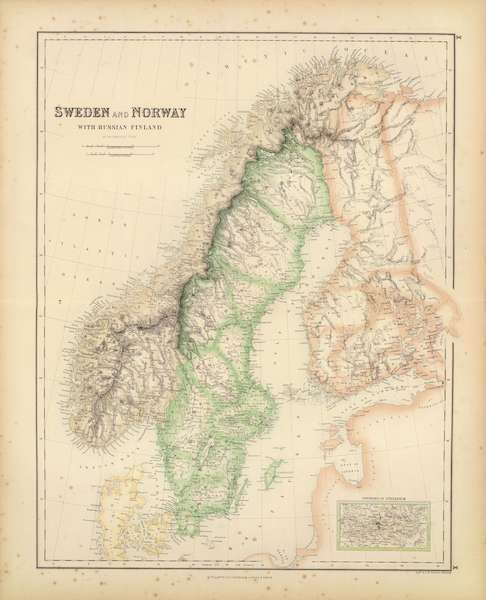 The Royal Illustrated Atlas - Sweden and Norway with Russian Finland (1872)