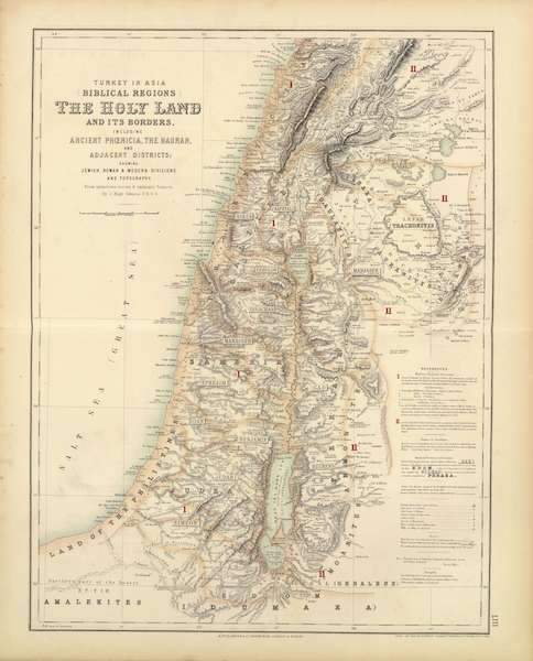 The Royal Illustrated Atlas - Turkey in Asia Biblical Regions the Holy Land and It's Borders (1872)