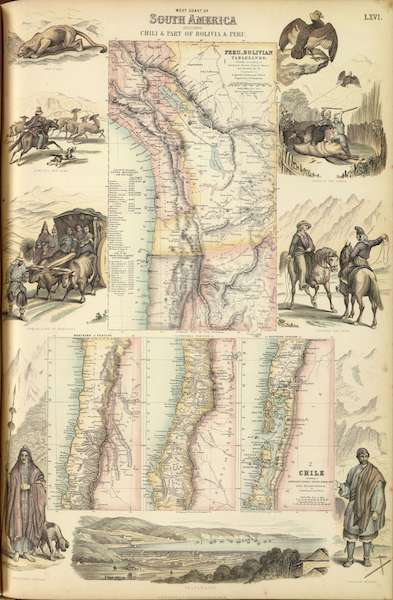 The Royal Illustrated Atlas - West Coast of South America (1872)