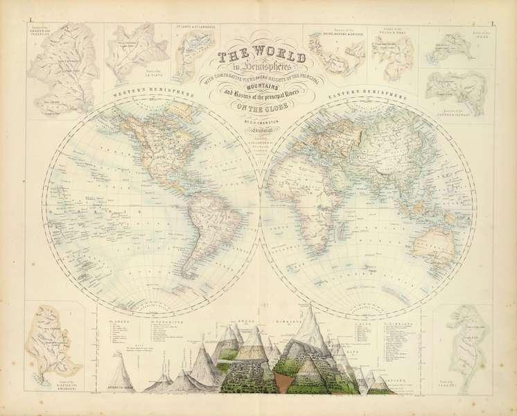 The Royal Illustrated Atlas - World in Hemispheres (1872)