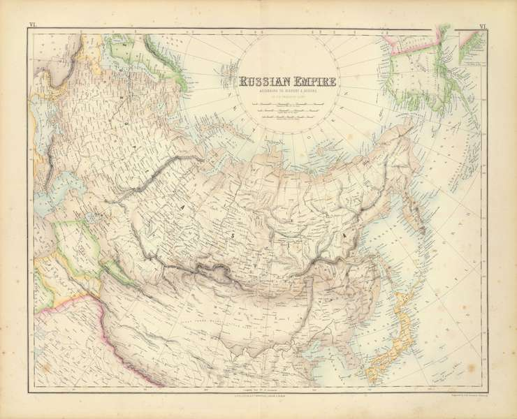 The Royal Illustrated Atlas - Russian Empire (1872)